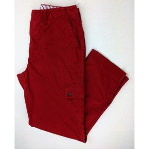 Ralph Lauren Red Cargo High Rise Pants Straight sz